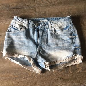 Cute Highrise Lace Shorts